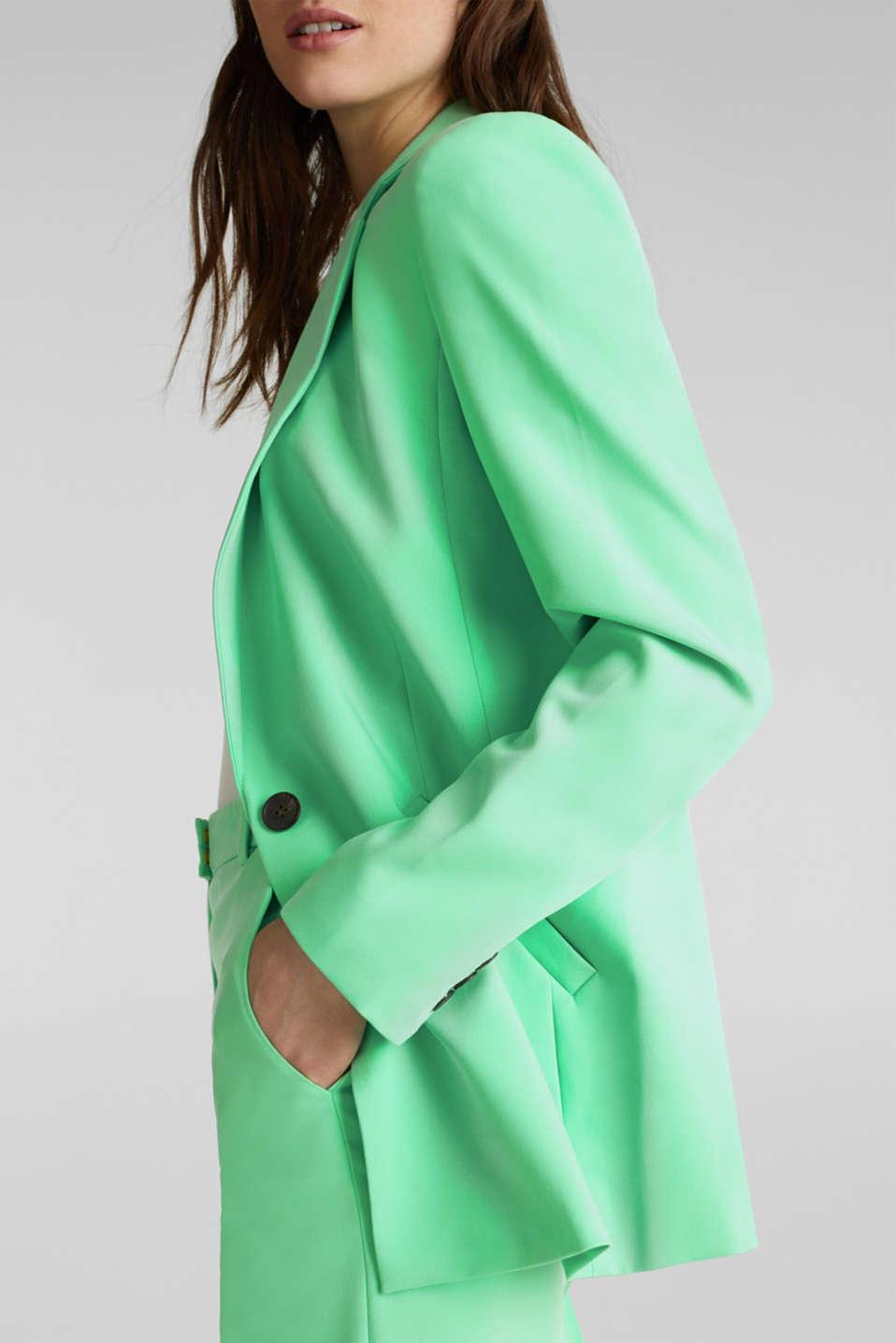 SHIMMER mix + match stretch blazer, LIGHT GREEN, detail image number 2