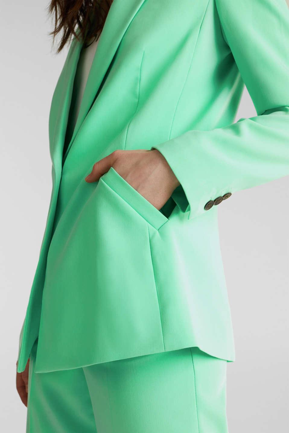 SHIMMER mix + match stretch blazer, LIGHT GREEN, detail image number 5