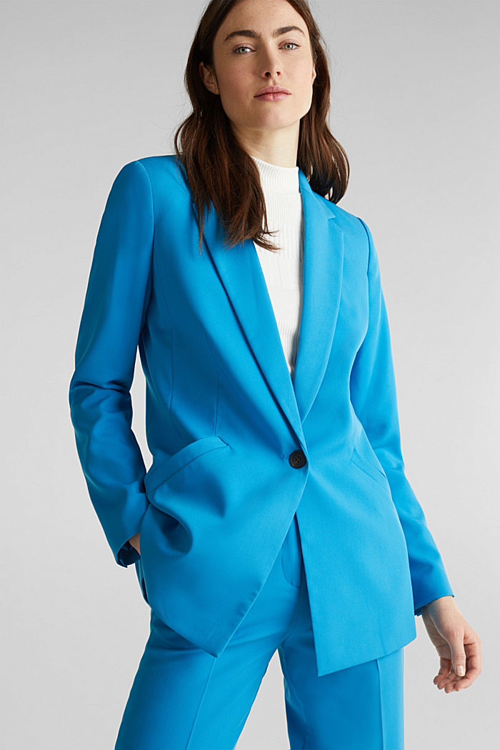 SHIMMER Mix + Match Stretch-Blazer, DARK TURQUOISE, detail image number 0