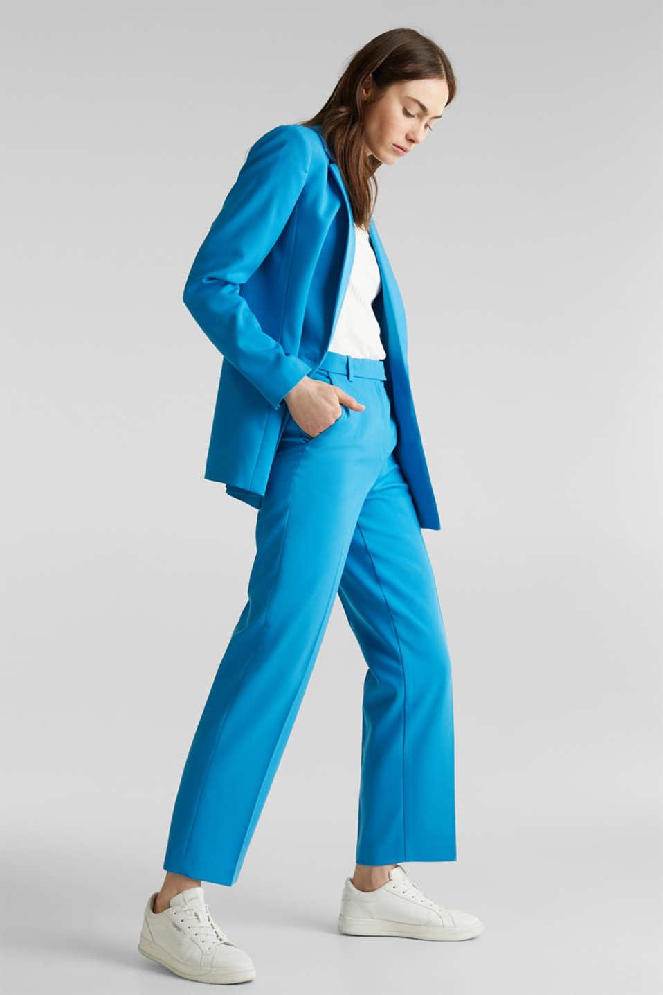 SHIMMER mix + match stretch blazer, DARK TURQUOISE, detail image number 1