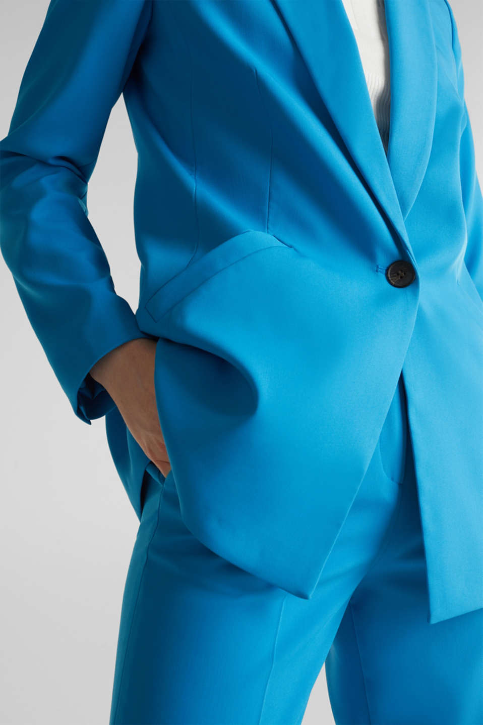 SHIMMER mix + match stretch blazer, DARK TURQUOISE, detail image number 2