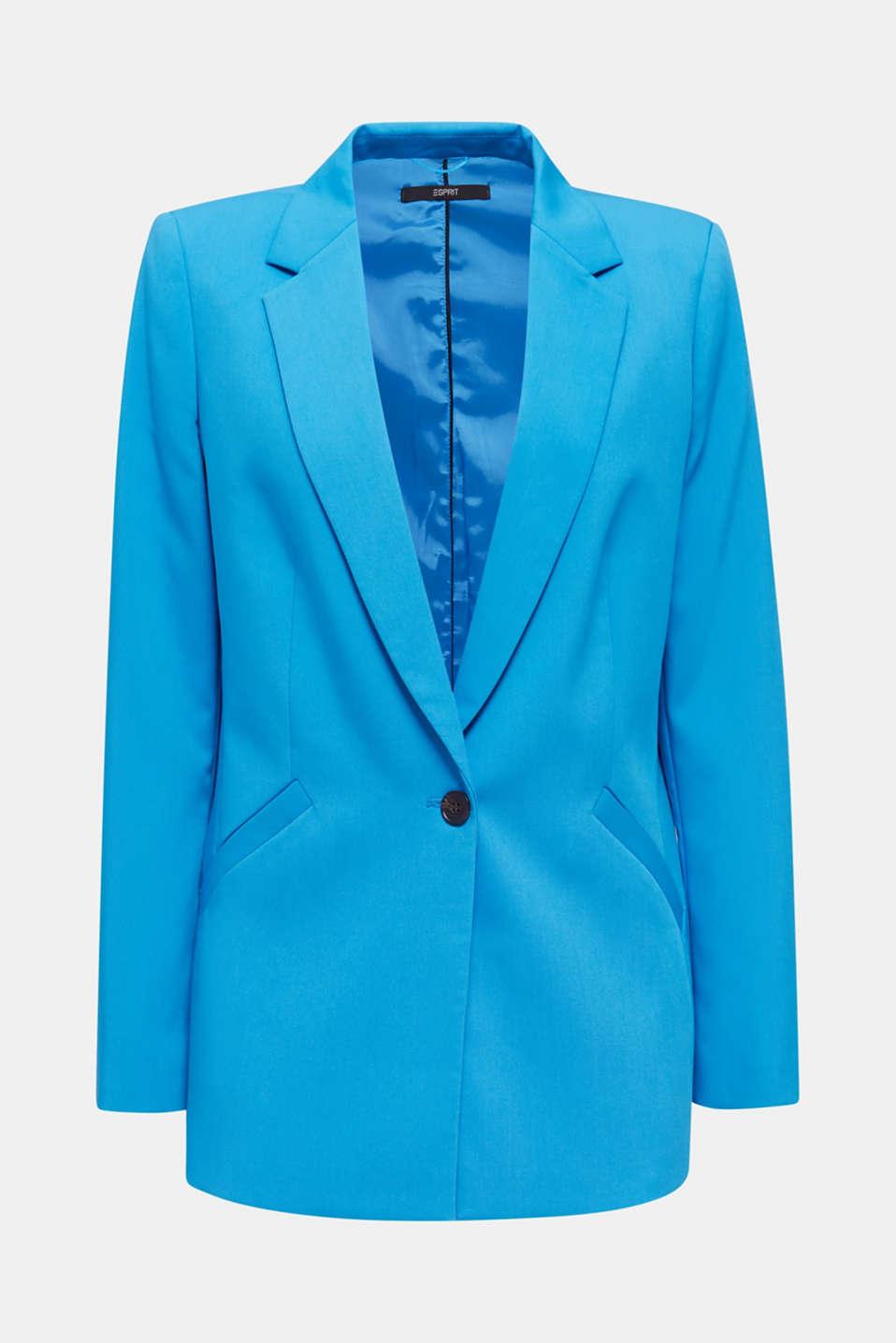 SHIMMER mix + match stretch blazer, DARK TURQUOISE, detail image number 5