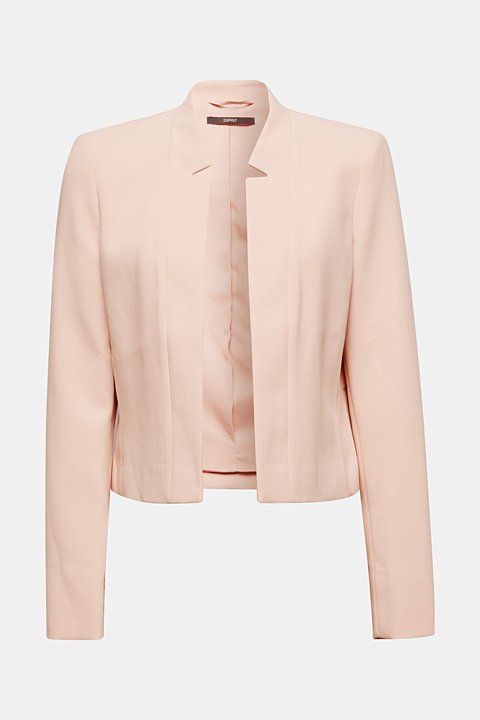 Open short blazer with a popped collar