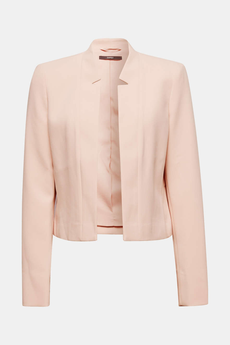 Open short blazer with a popped collar, PASTEL PINK, detail image number 6