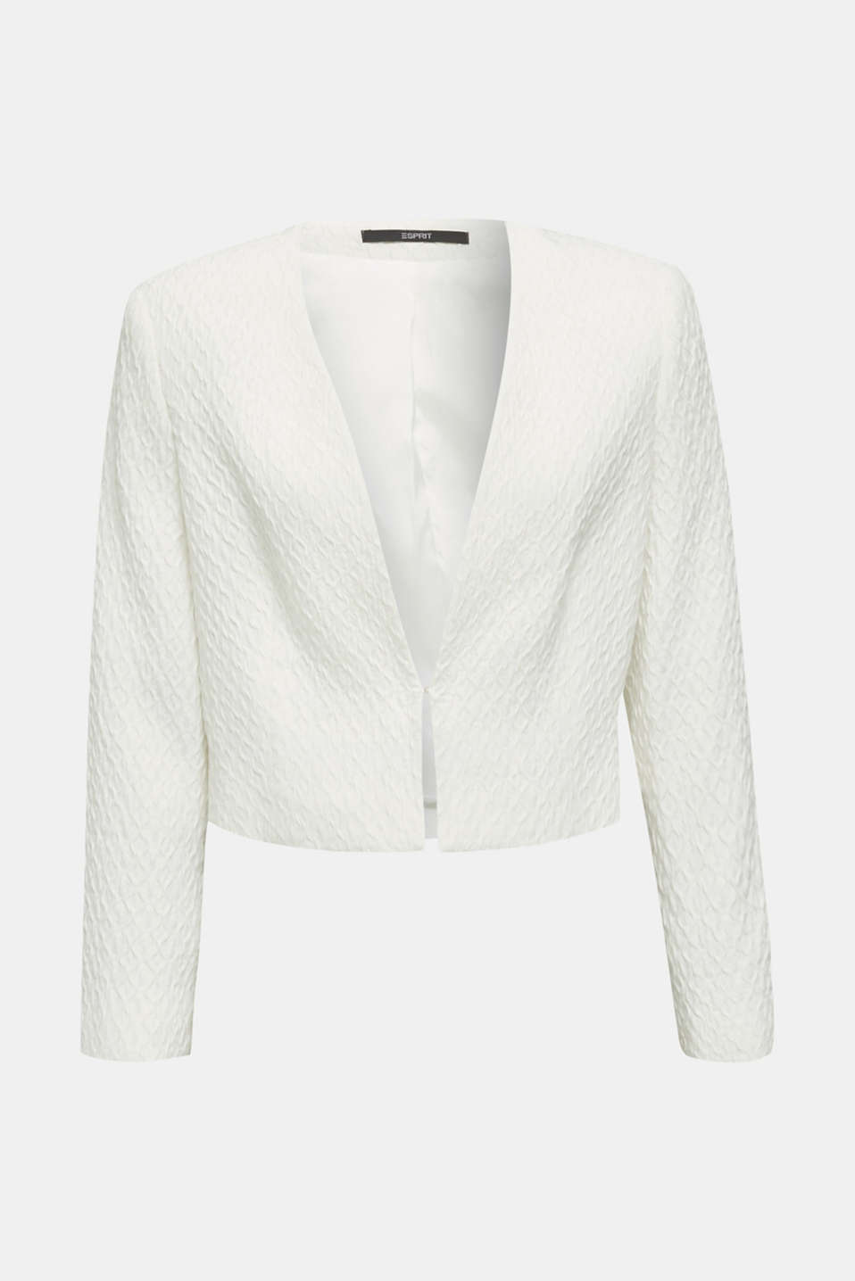 Textured woven bolero, OFF WHITE, detail image number 7