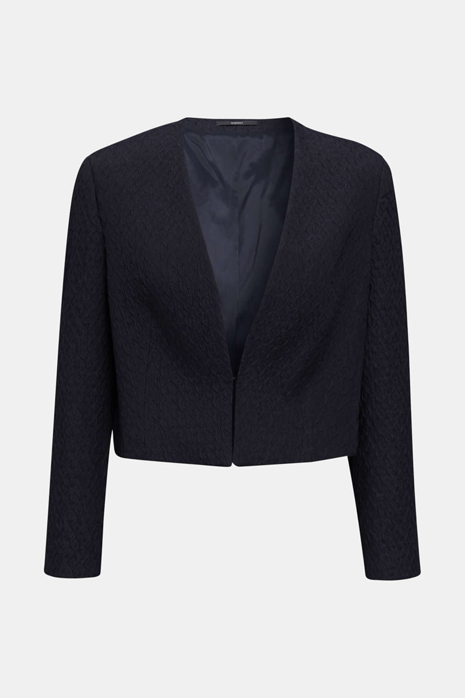 Textured woven bolero, NAVY, detail image number 7