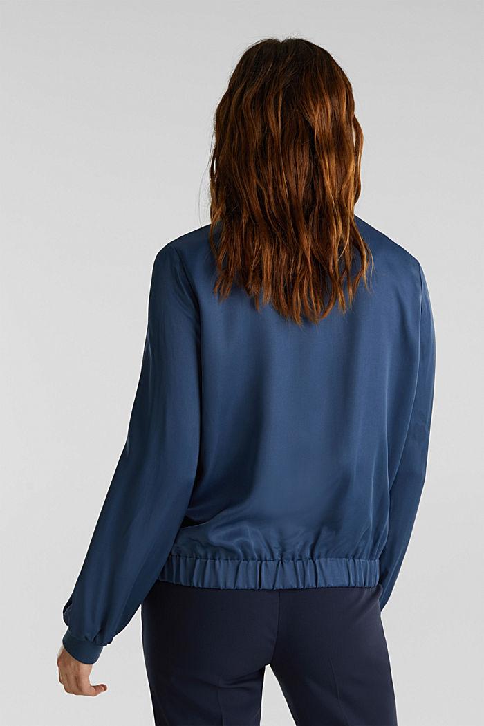 Satin bomber jacket, PETROL BLUE, detail image number 3