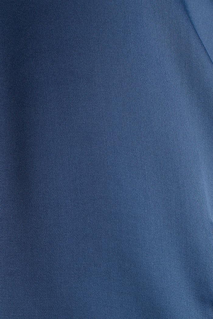 Satin bomber jacket, PETROL BLUE, detail image number 4