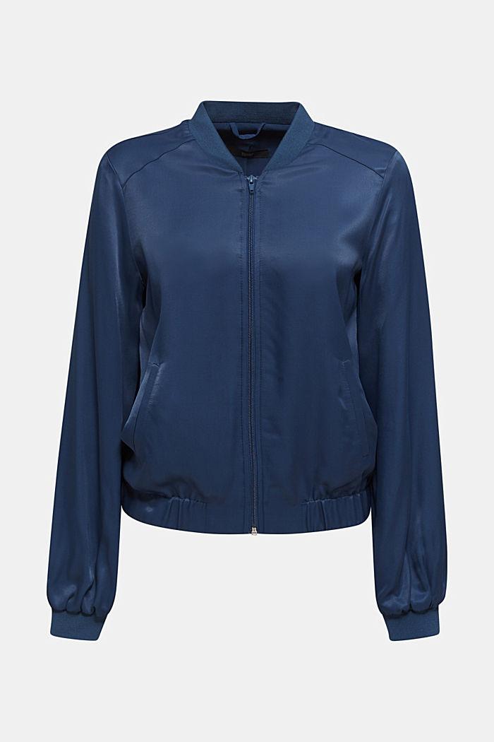 Satin bomber jacket, PETROL BLUE, detail image number 5