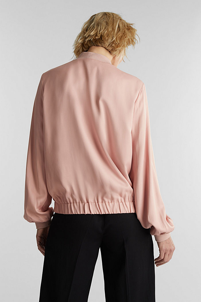 Satin bomber jacket, NUDE, detail image number 3