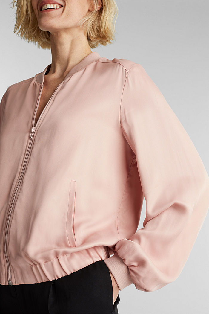 Satin bomber jacket, NUDE, detail image number 2