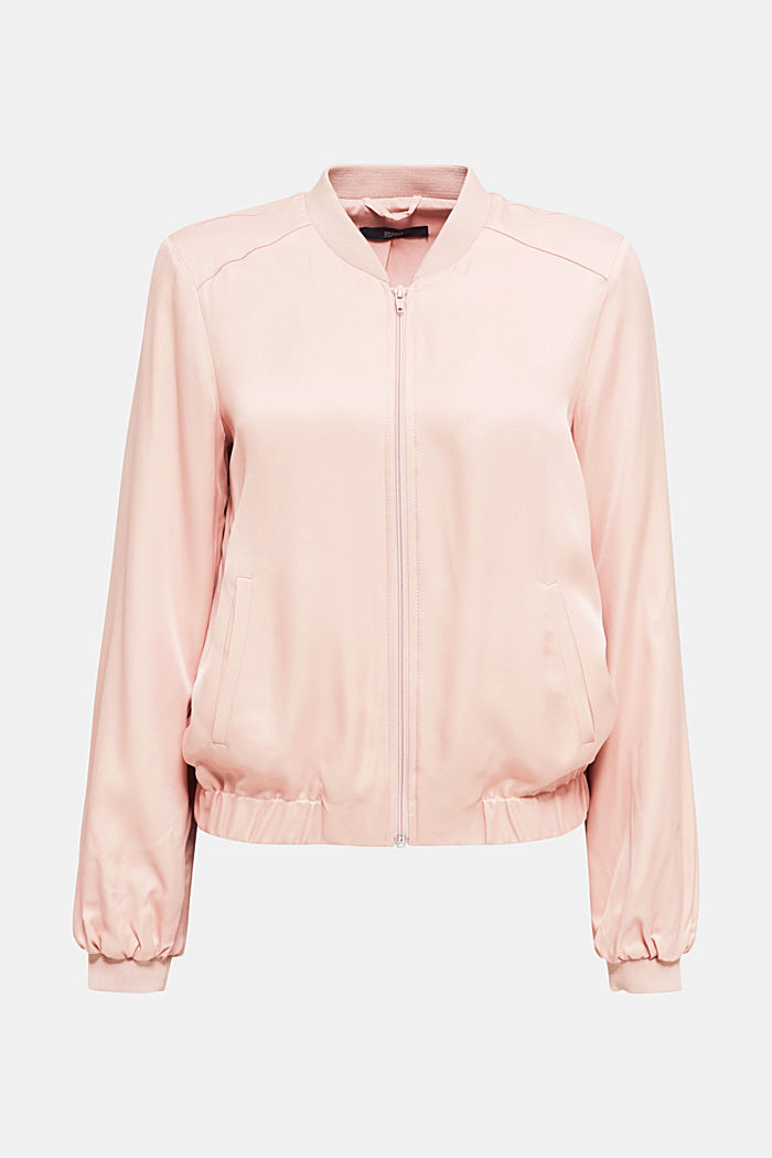 Satin bomber jacket, NUDE, overview