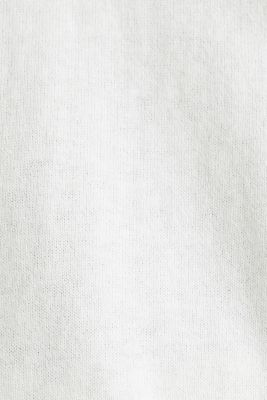 Short-sleeved polo jumper with silk, OFF WHITE, detail