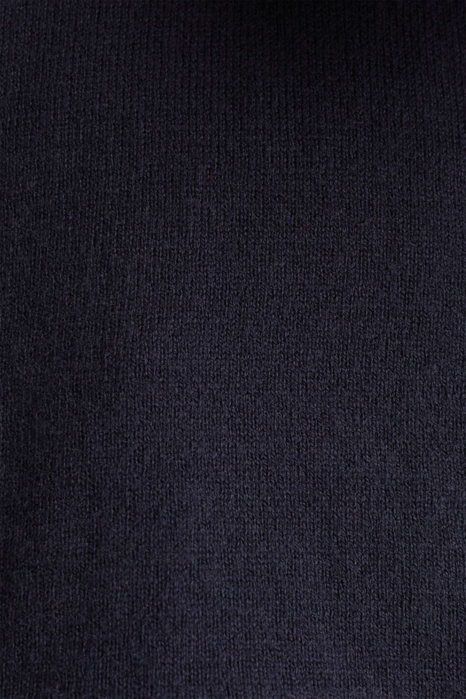 With silk: polo-style short-sleeved jumper, NAVY, detail image number 3