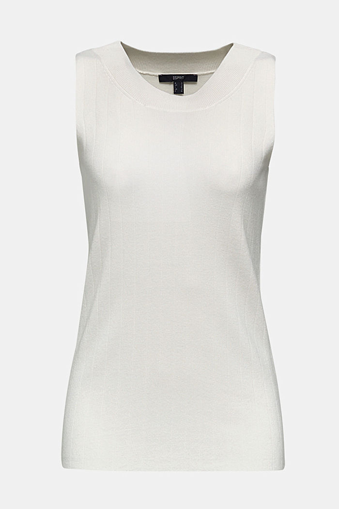 Knitted top containing LENZING™ ECOVERO™, OFF WHITE, detail image number 7