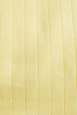 Knitted top containing LENZING™ ECOVERO™, LIME YELLOW, detail