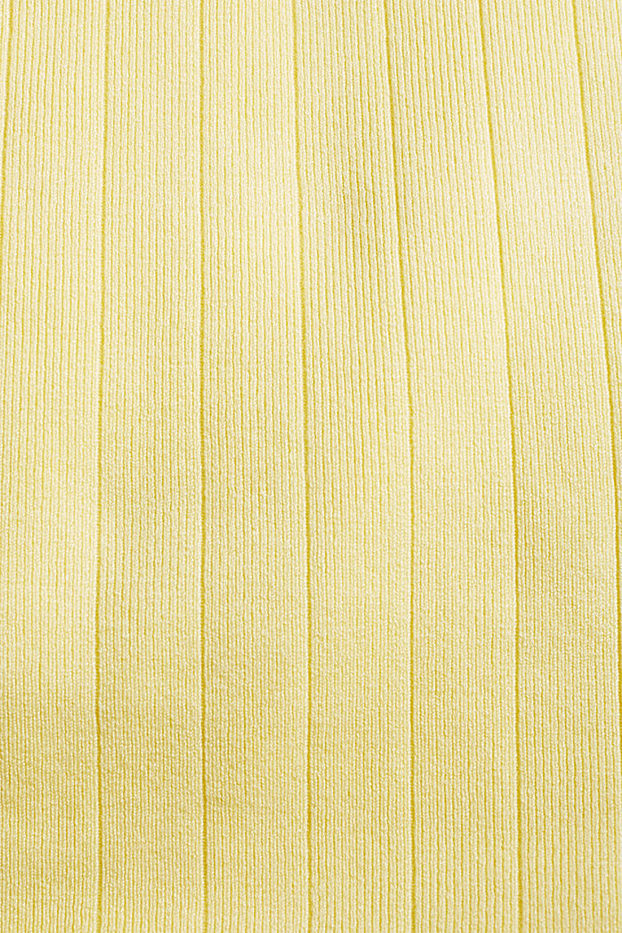 Strick-Top mit LENZING™ ECOVERO™, LIME YELLOW, detail image number 3