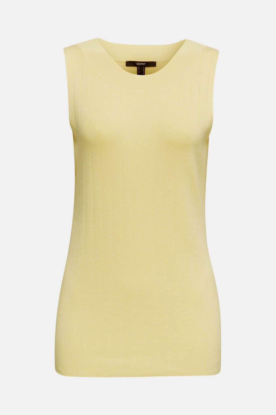 Knitted top containing LENZING™ ECOVERO™, LIME YELLOW, detail image number 6