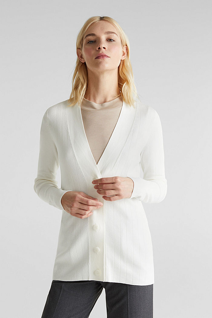 Vest met LENZING™ ECOVERO™, OFF WHITE, detail image number 0