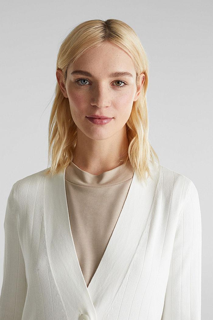 Vest met LENZING™ ECOVERO™, OFF WHITE, detail image number 5