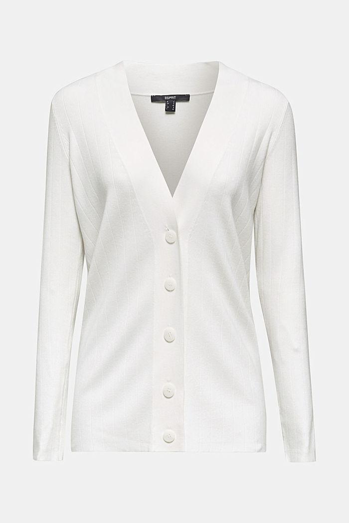 Vest met LENZING™ ECOVERO™, OFF WHITE, detail image number 6