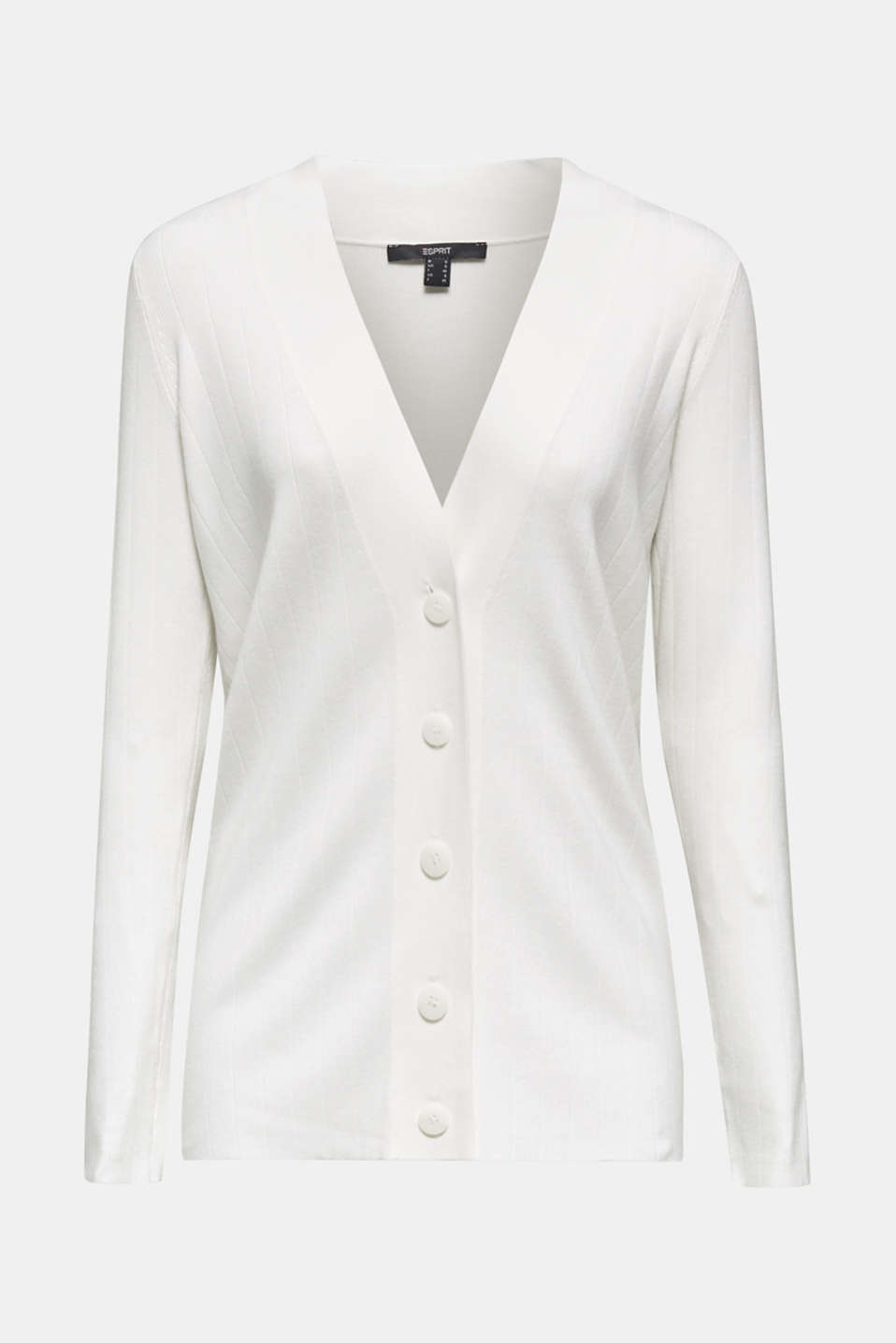 Cardigan containing LENZING™ ECOVERO™, OFF WHITE, detail image number 6