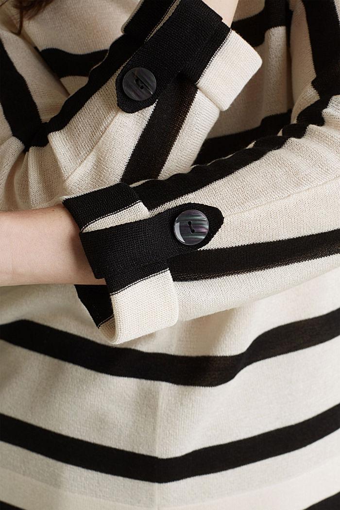 Fledermaus-Pullover aus Crêpe-Garn, NEW OFF WHITE, detail image number 2