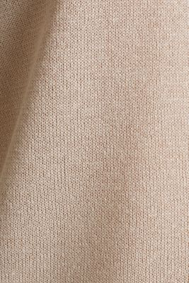 Jumper with batwing sleeves made of crêpe yarn, LIGHT BEIGE, detail