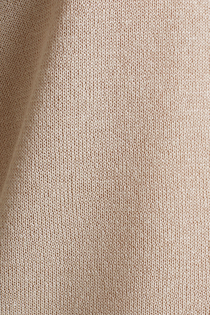 Jumper with batwing sleeves made of crêpe yarn, LIGHT BEIGE, detail image number 4