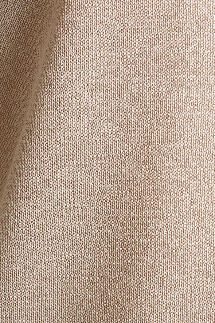 Fledermaus-Pullover aus Crêpe-Garn, LIGHT BEIGE, detail image number 4