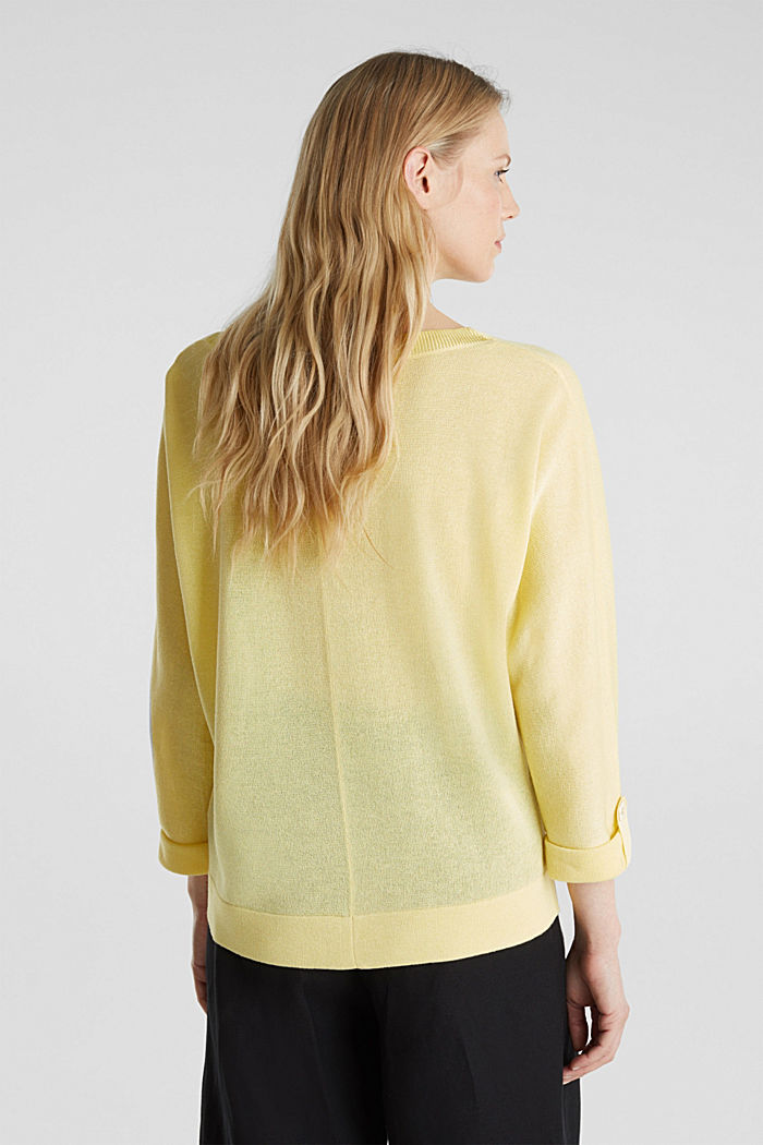 Jumper with batwing sleeves made of crêpe yarn, LIME YELLOW, detail image number 3