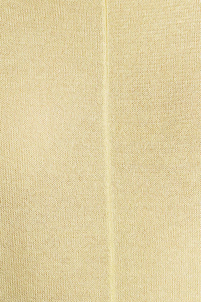 Fledermaus-Pullover aus Crêpe-Garn, LIME YELLOW, detail image number 4