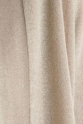 Open cardigan made of crêpe yarn, LIGHT BEIGE, detail