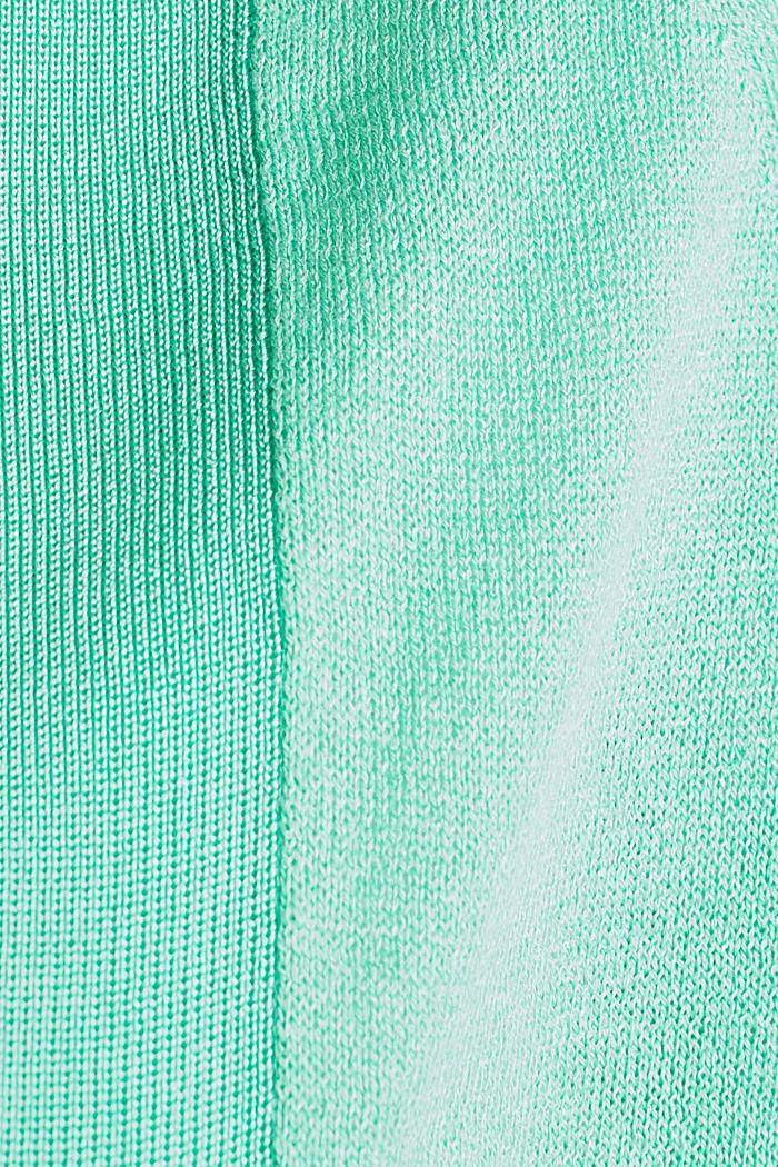Offener Cardigan aus Crêpe-Garn, LIGHT GREEN, detail image number 4