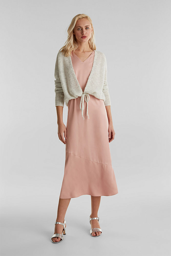 With wool/alpaca: premium cardigan, PASTEL GREY, detail image number 1