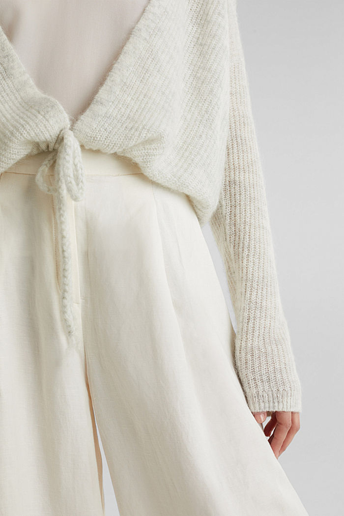 With wool/alpaca: premium cardigan, PASTEL GREY, detail image number 2