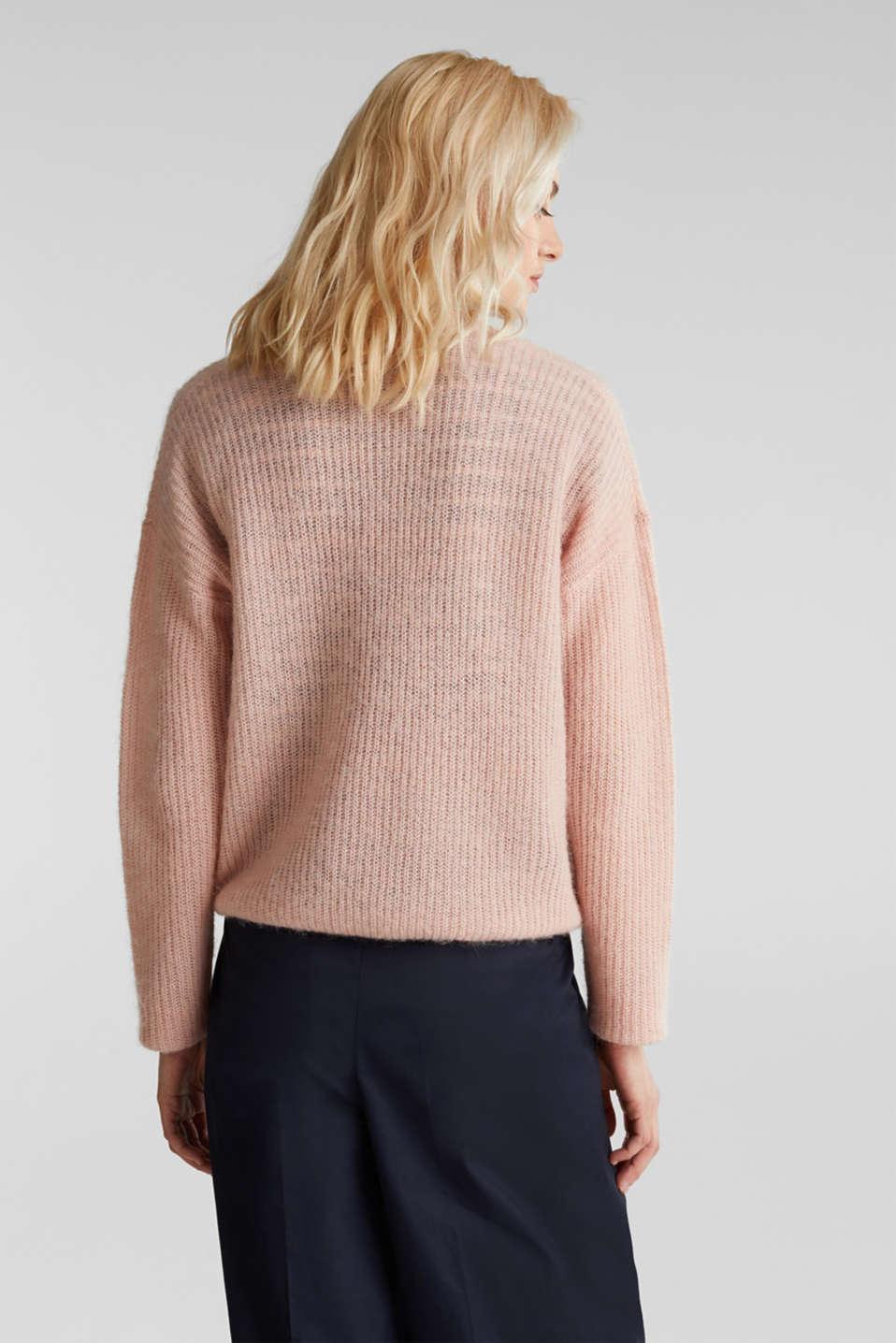 With wool/alpaca: premium cardigan, NUDE, detail image number 2
