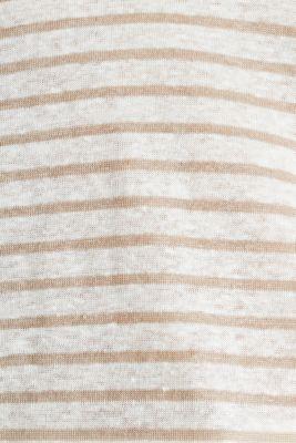 V-neck linen top, OFF WHITE, detail