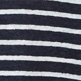 V-neck linen top, NAVY, swatch