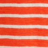 V-neck linen top, RED ORANGE, swatch