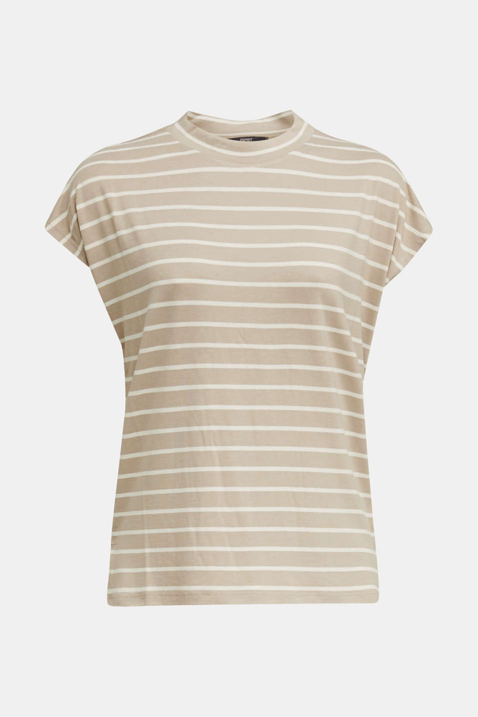Stretch top with stripes, BEIGE, detail image number 6