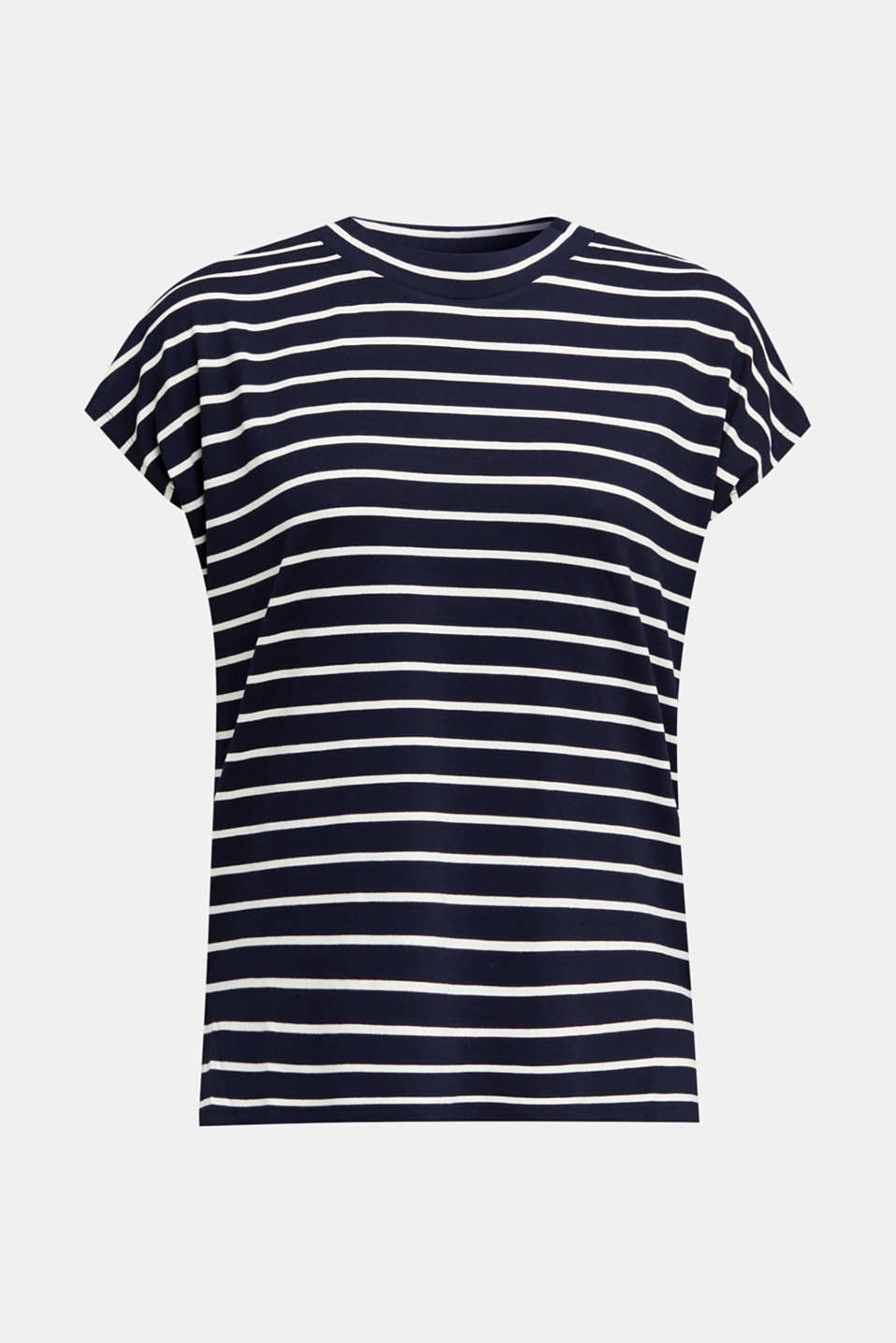 Stretch top with stripes, NAVY, detail image number 7