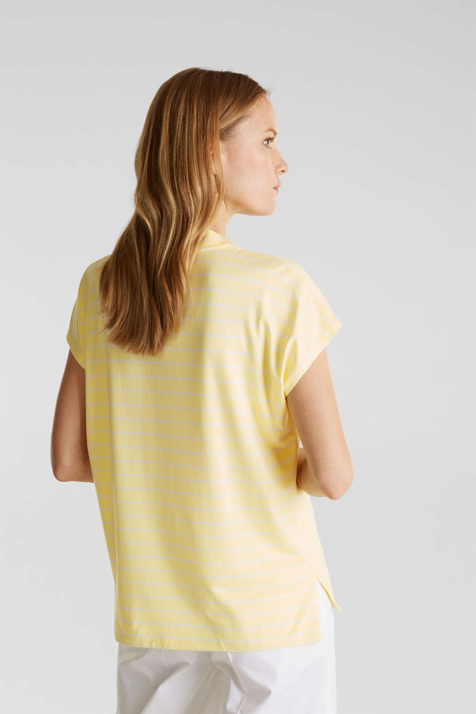 Stretch top with stripes, LIME YELLOW, detail image number 2