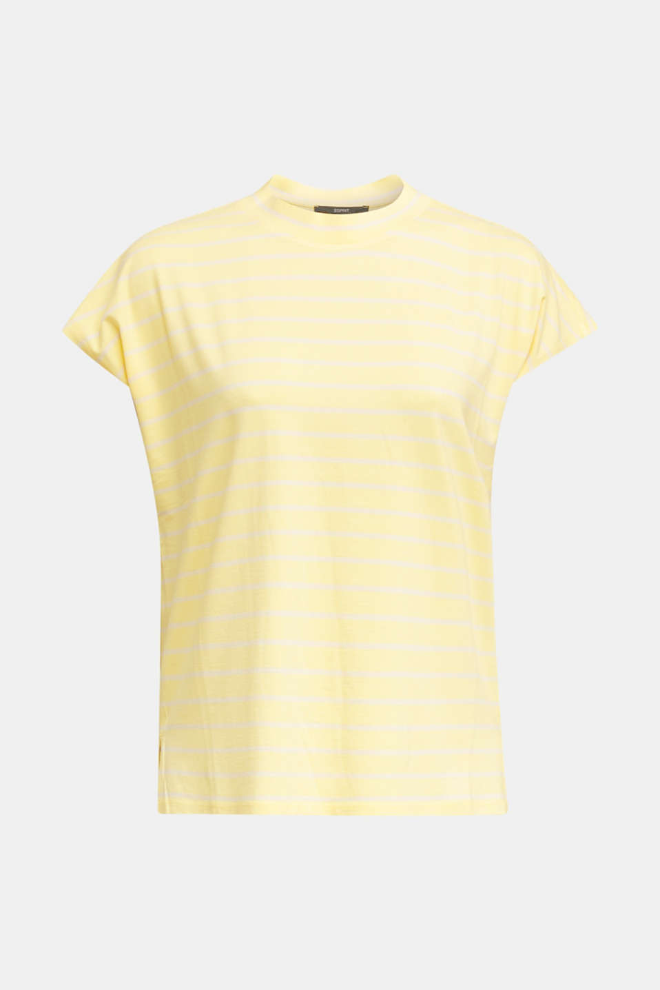 Stretch top with stripes, LIME YELLOW, detail image number 5