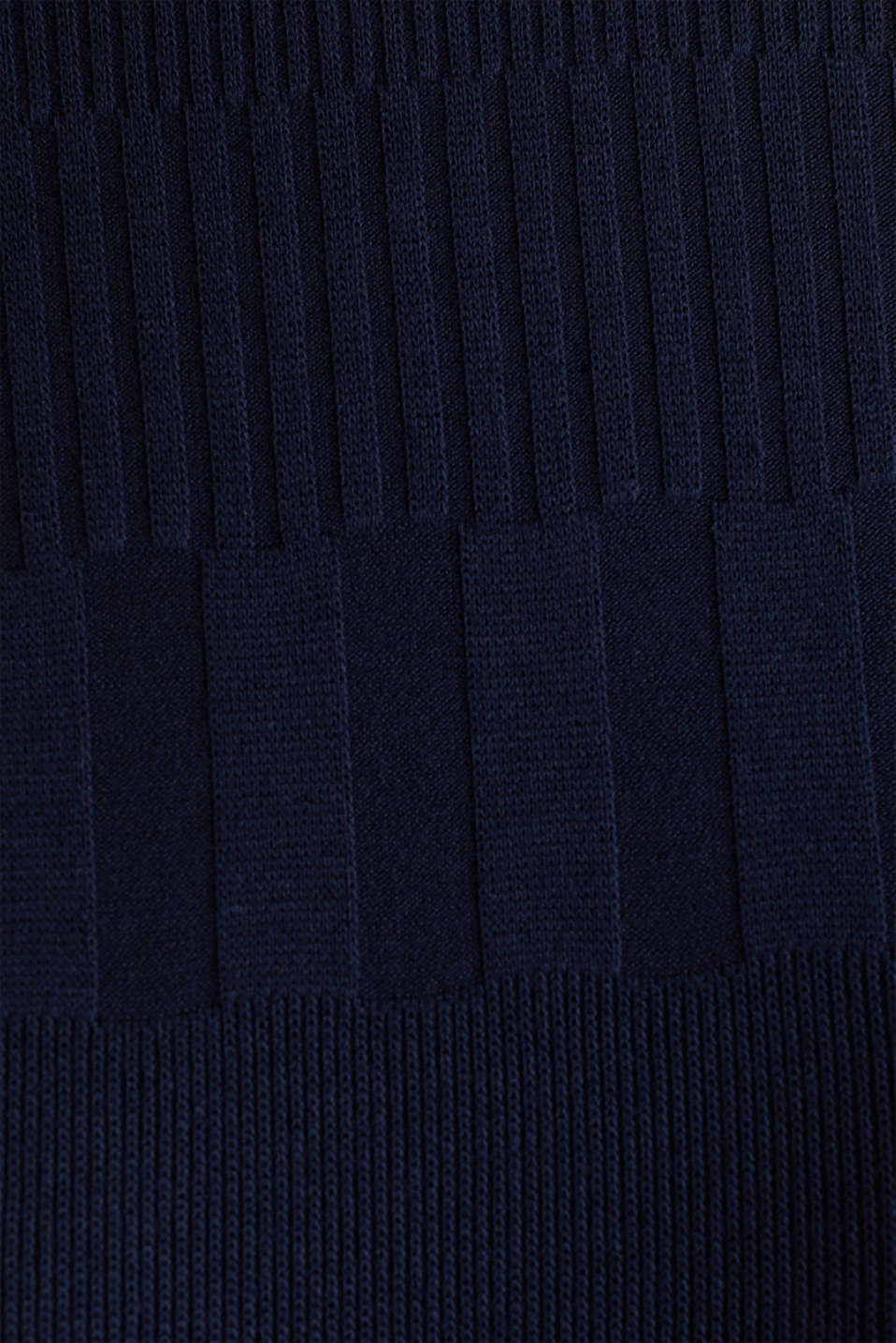 Textured top with a band collar, NAVY, detail image number 4
