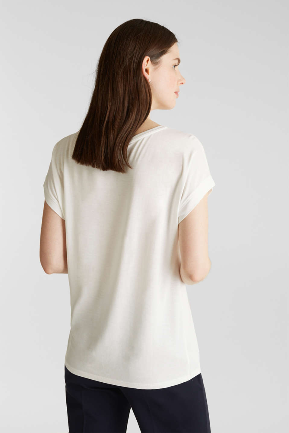 T-shirt with a geometric print, OFF WHITE, detail image number 3