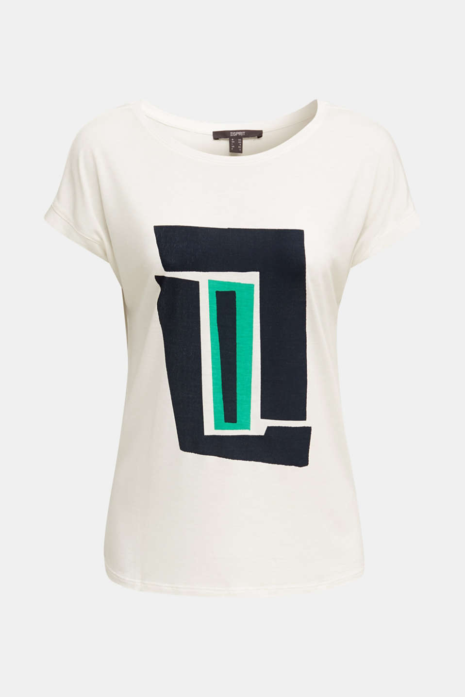 T-shirt with a geometric print, OFF WHITE, detail image number 6