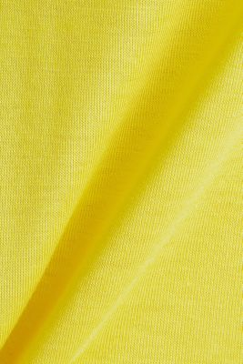V-neck top with chiffon trims, YELLOW, detail