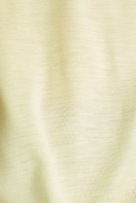 V-neck top with chiffon trims, LIME YELLOW, detail