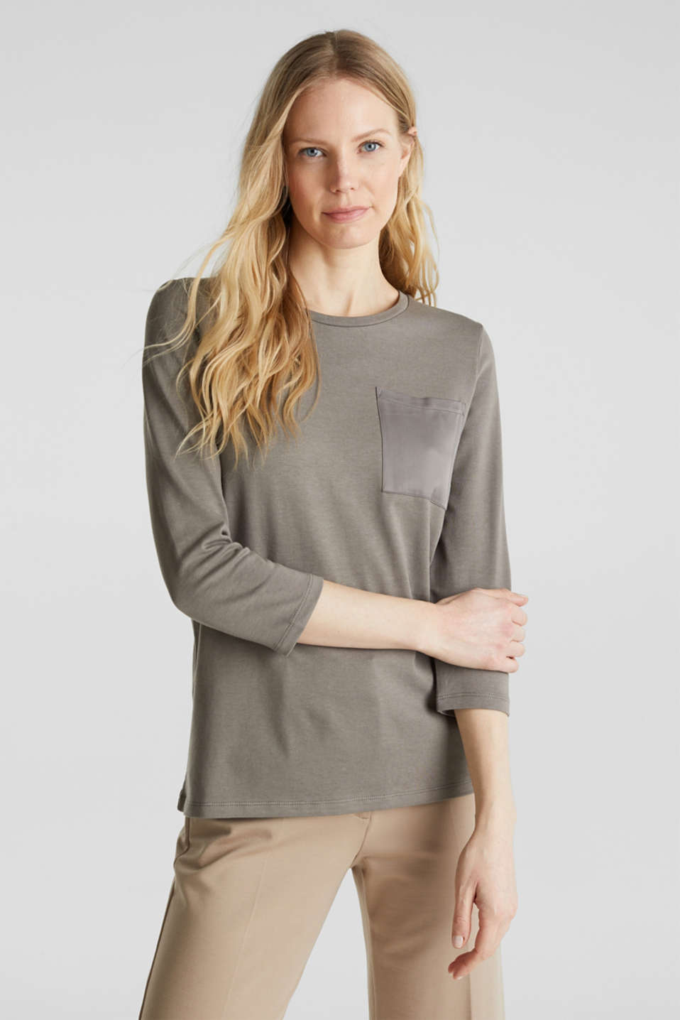 Esprit - Top with a satin pocket